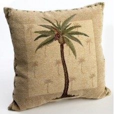 Brentwood Originals Panama Jacquard Chenille 18-by-18-inch Decorative Pillow, Palm Tree