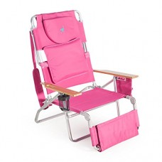 Ostrich Deluxe Padded Sport 3-in-1 Aluminum Beach Chair, Pink